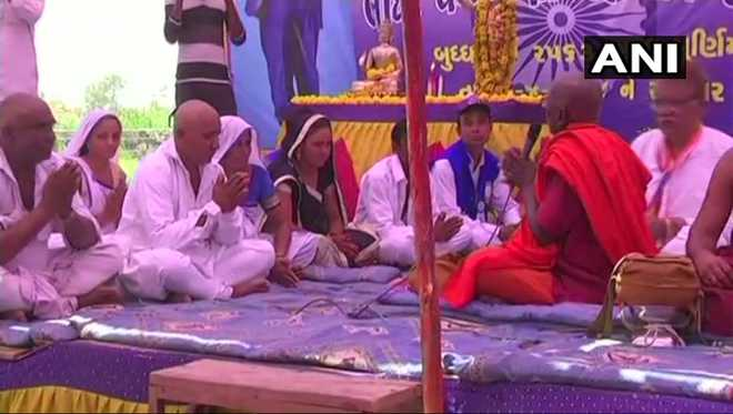 Number of Dalits in Gujarat convert to Buddhism