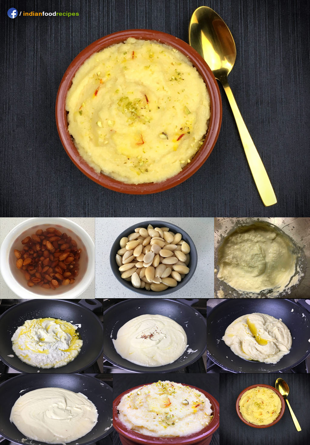 Badam Halwa recipes step by step