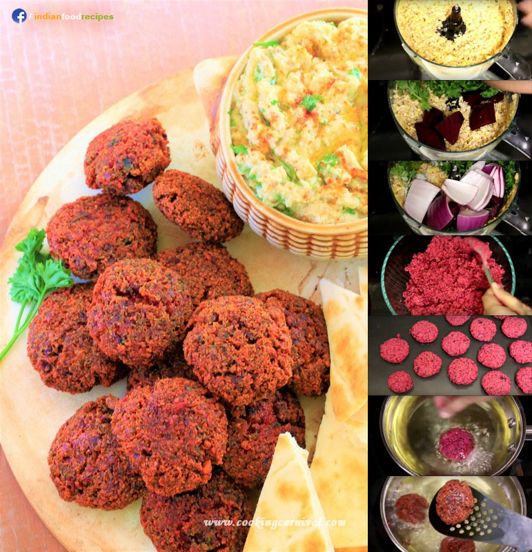 Beetroot Falafel recipe step by step