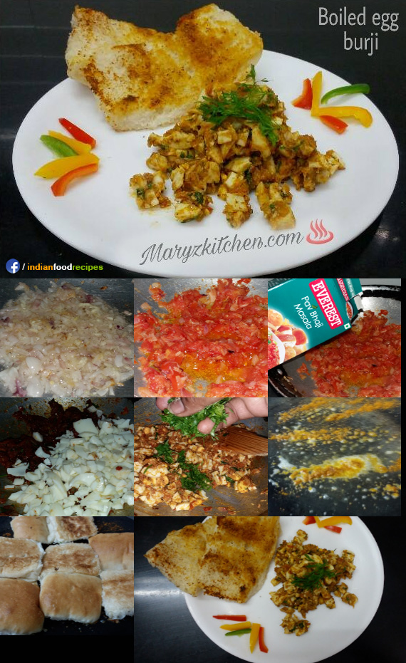 Boiled egg burji recipe step by step