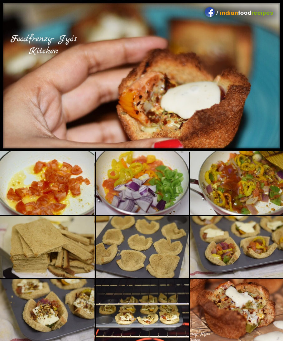 Bread Cup Pizza recipe step by step