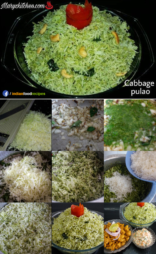 Cabbage pulao recipe step by step