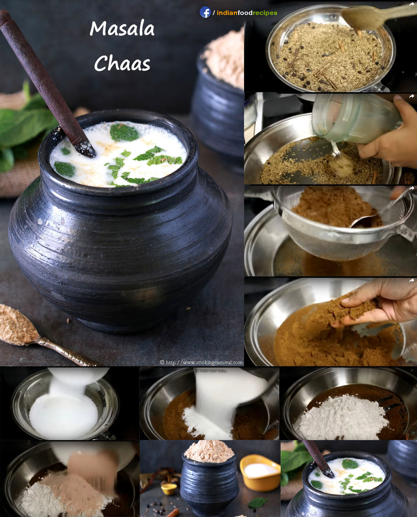 Chaas / Buttermilk Masala recipe step by step