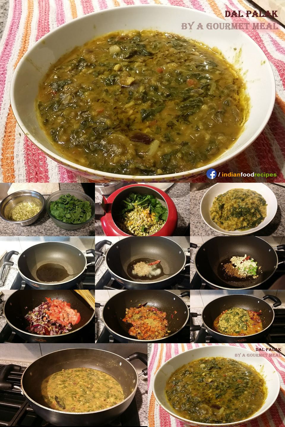 Dal Palak recipe step by step