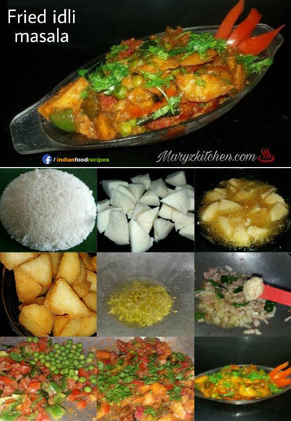 Fried idli masala recipe step by step