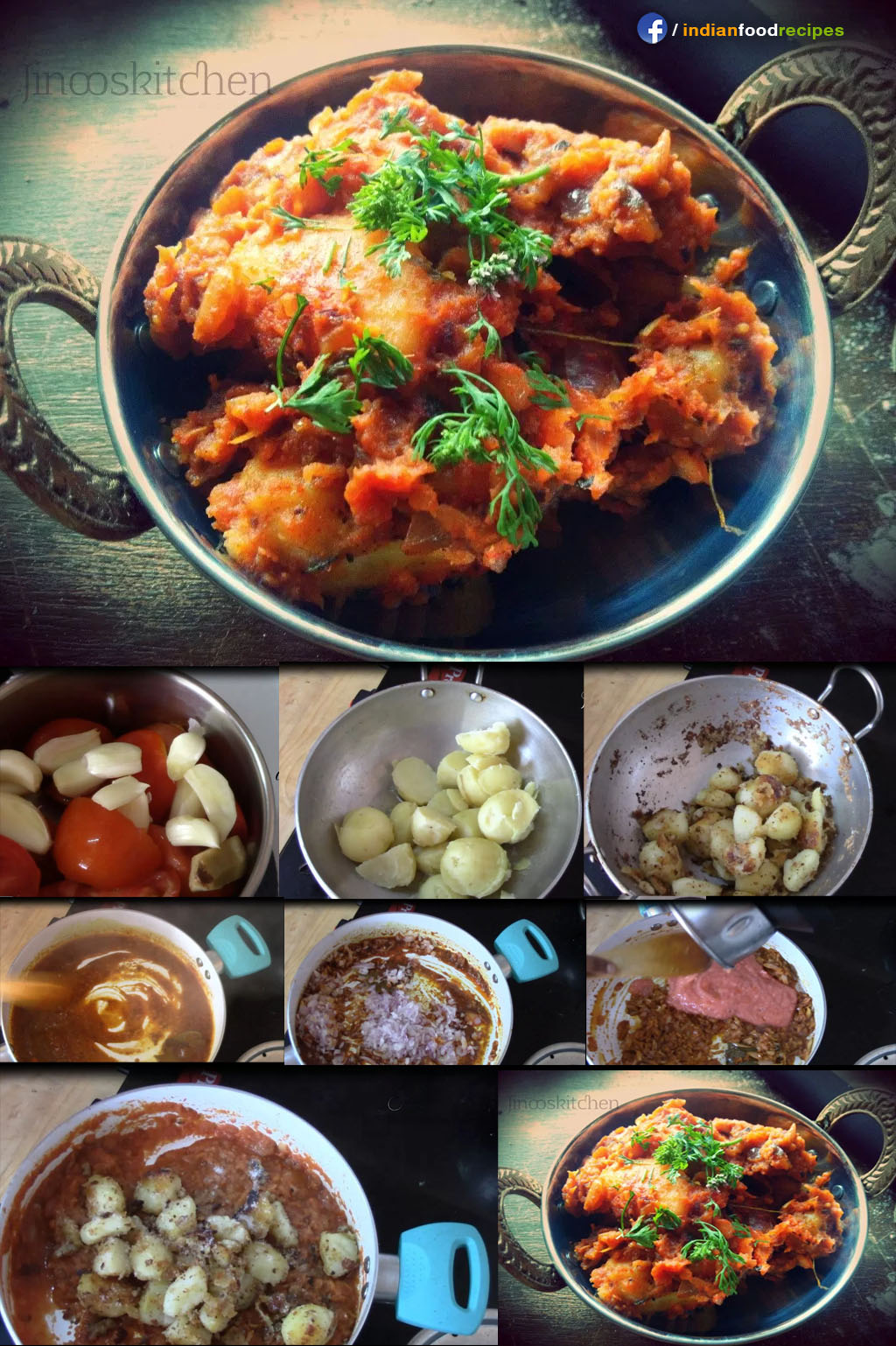Garlic Potato curry / Lasaniya batata recipe step by step