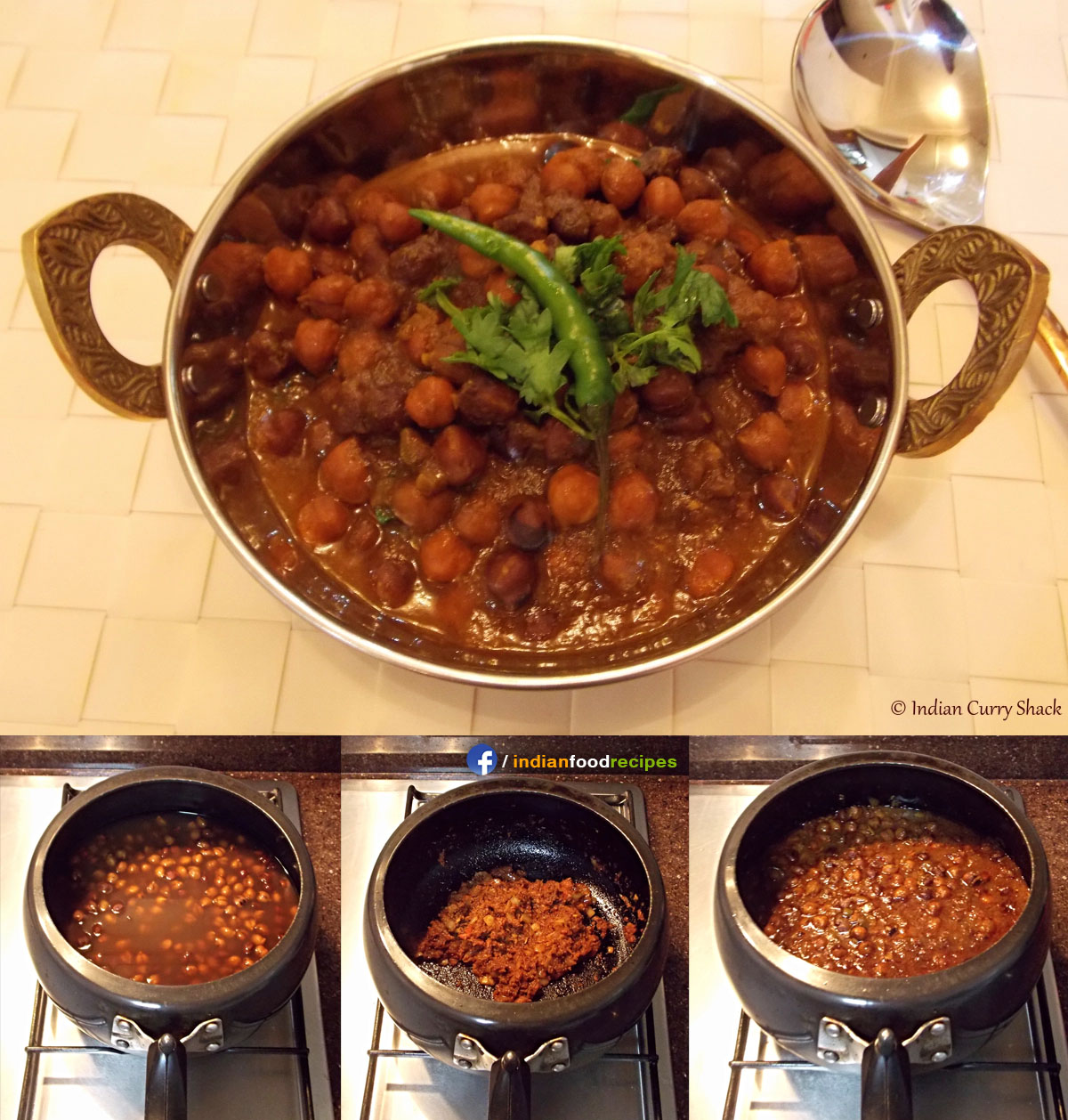 Ghugni (Kala Chana / Black Chickpeas) recipe step by step