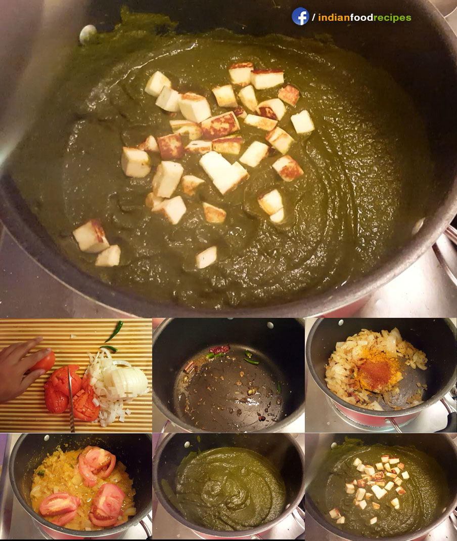 Healthy Palak / Saag (Spinach) Paneer recipe step by step