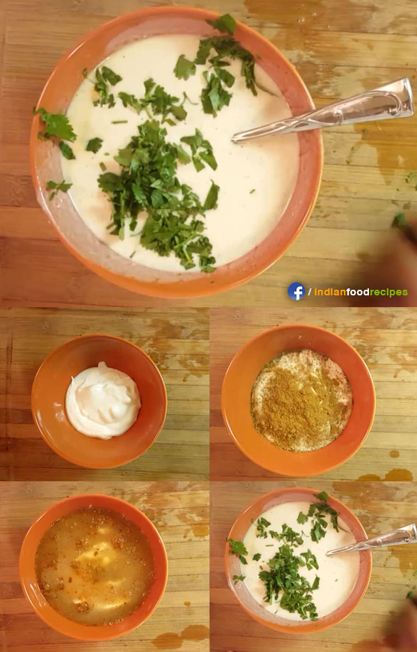 Indian Yogurt Raita recipe step by step
