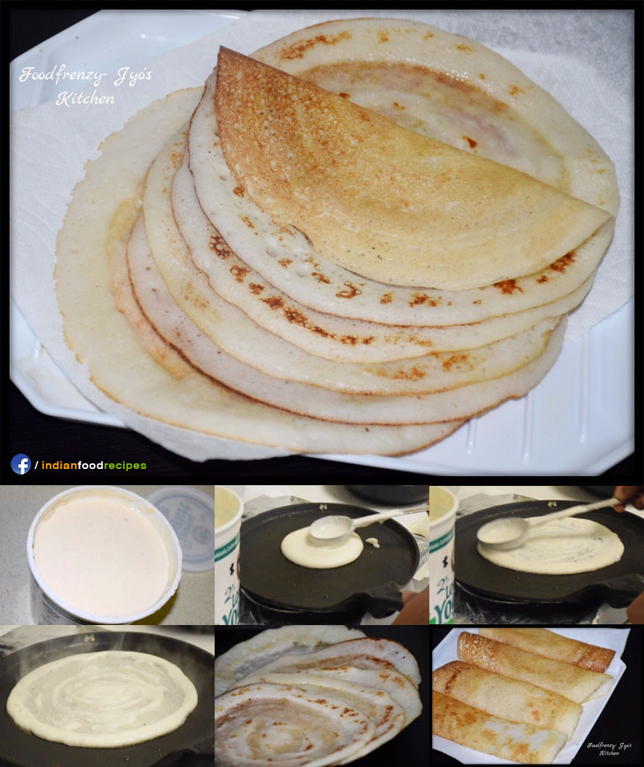 Instant Buttermilk Dosa recipe step by step