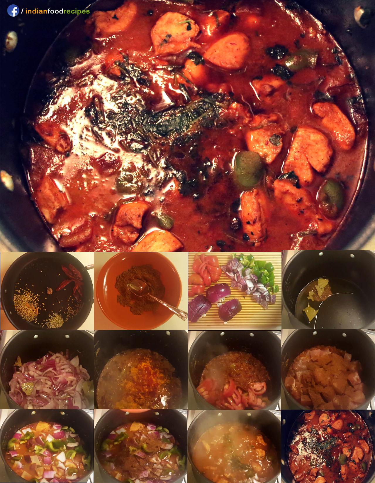 Kadai Chicken recipe step by step