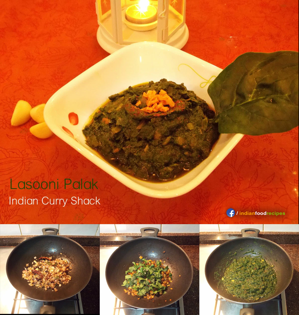 Lasooni Palak / Spinach with a prominent Garlic flavour recipe step by step