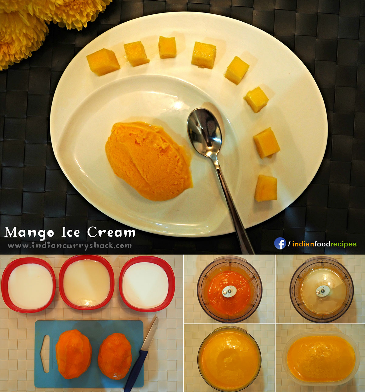 Mango Ice Cream recipe step by step