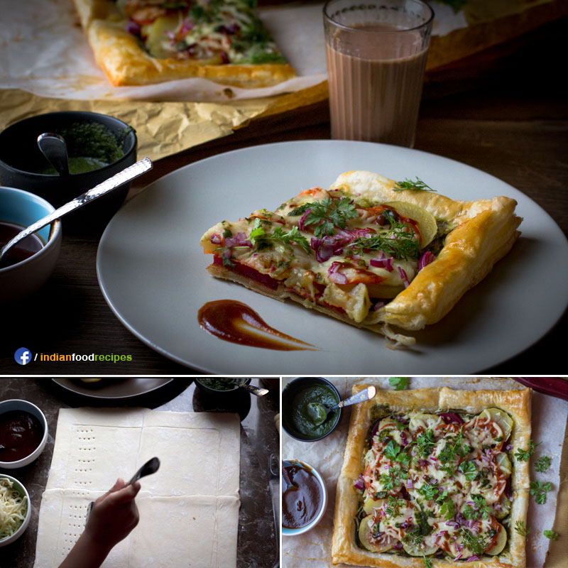 Mumbai Puff Pastry Tart recipe step by step