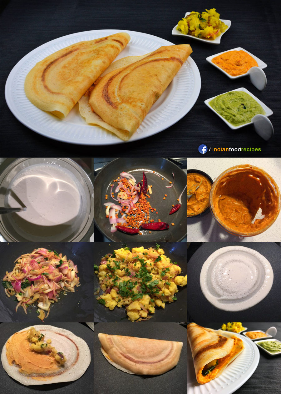 Mysore Masala Dosa recipe step by step