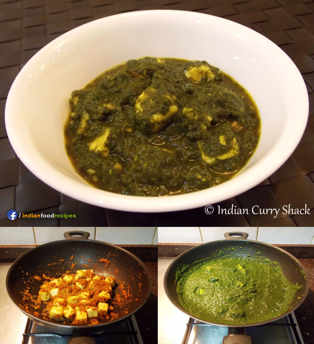 Palak Paneer (Cottage Cheese in Spinach Curry) recipe step by step