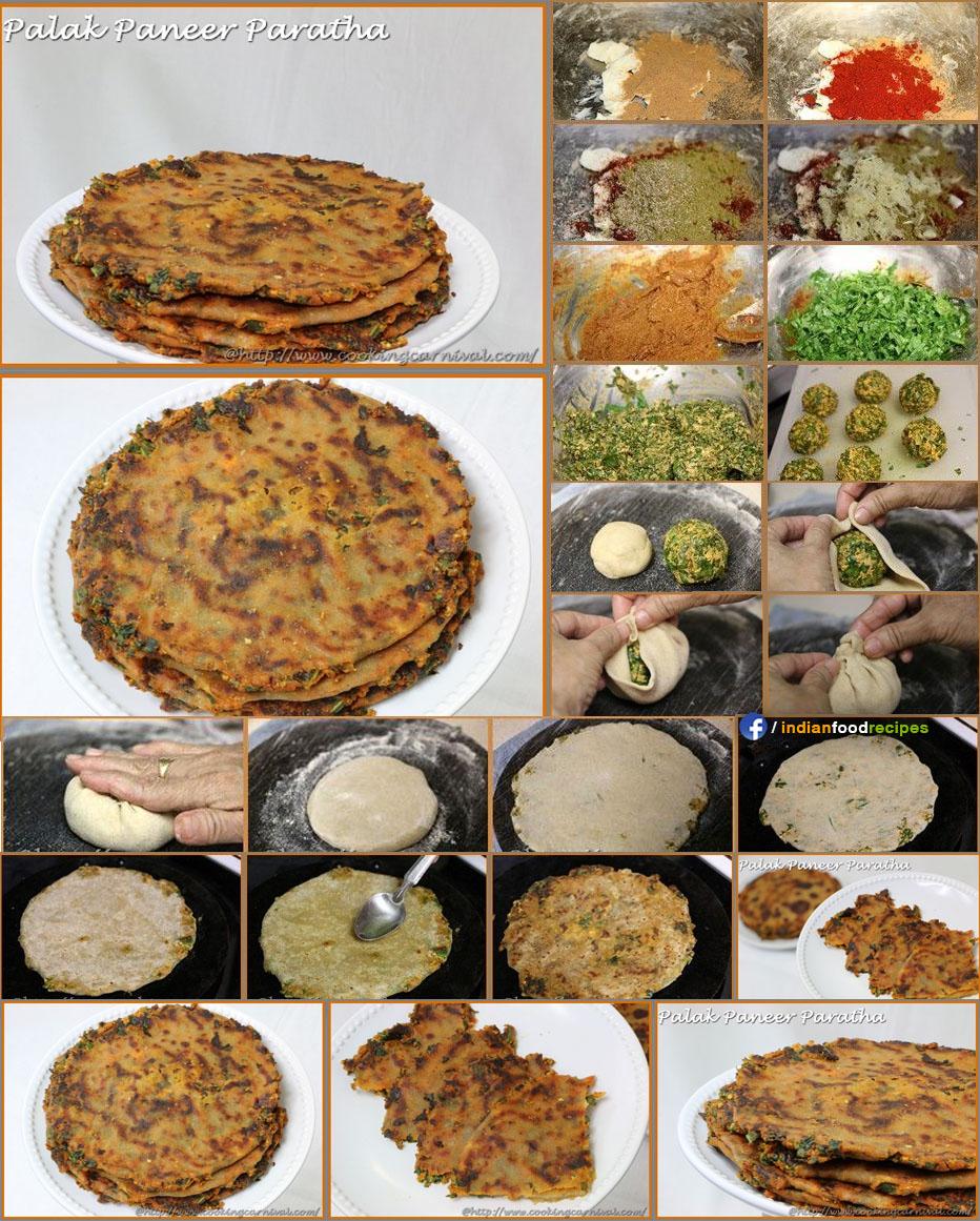 Palak Paneer Paratha recipe step by step