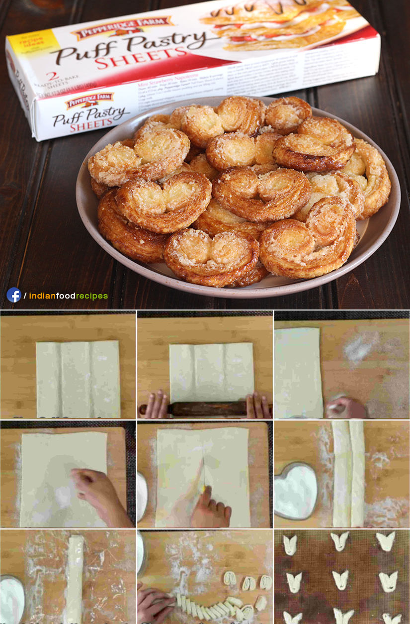 Palmiers or Little Hearts or Elephant ears recipe