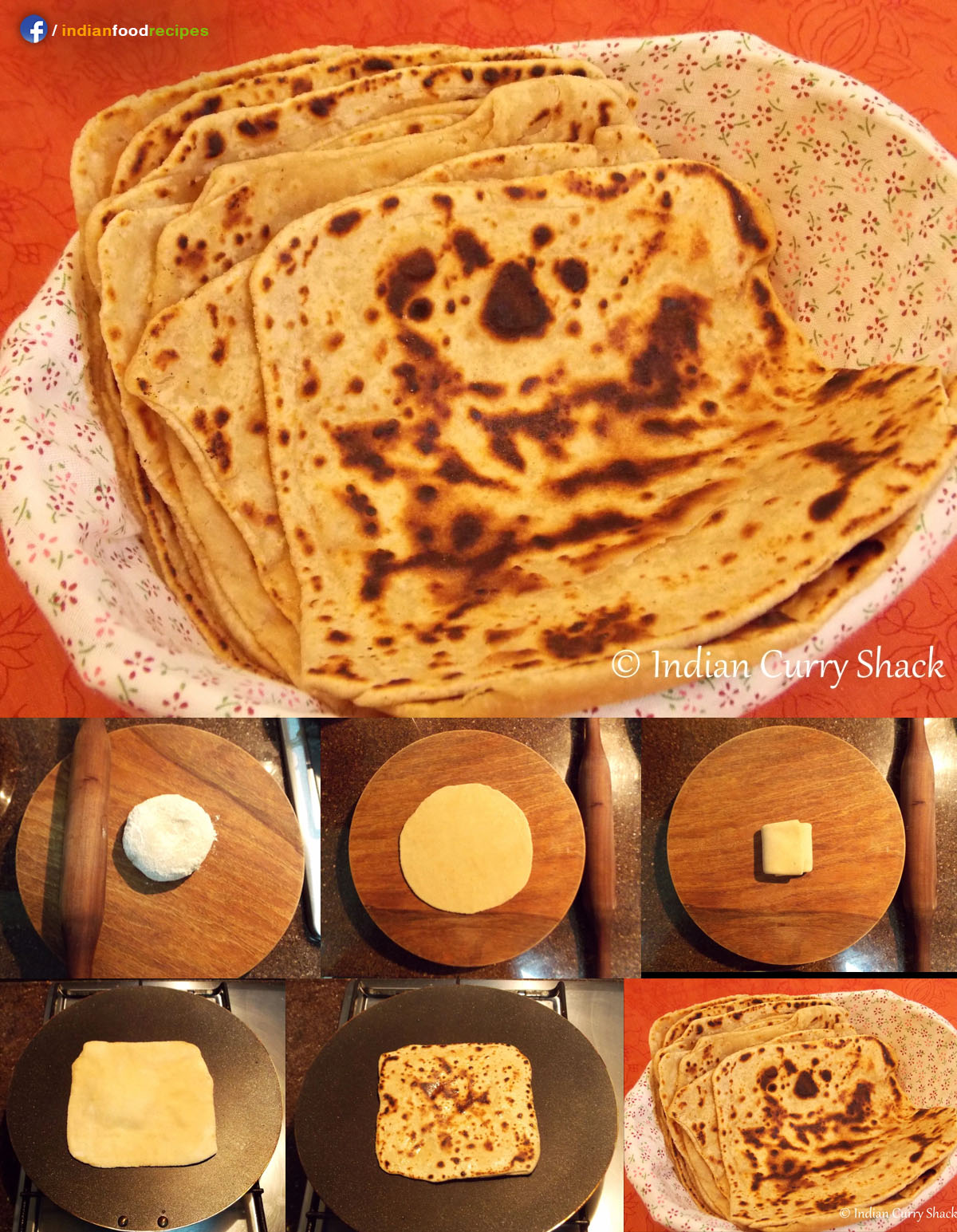Plain Paratha recipe step by step