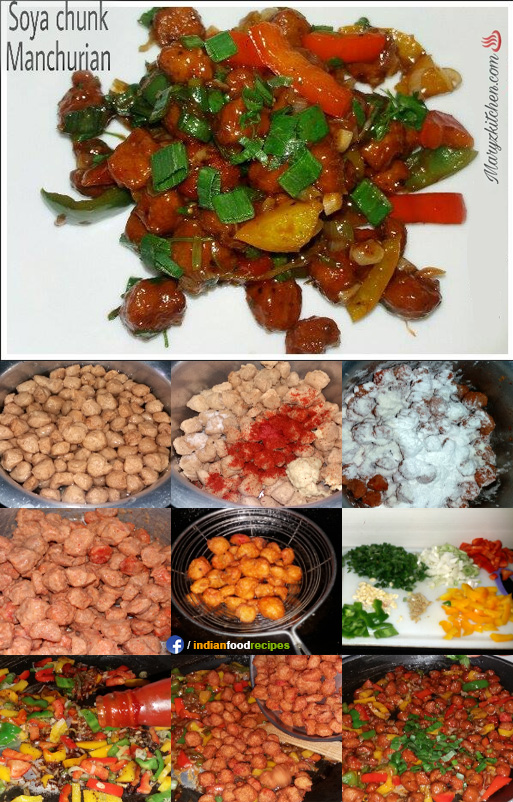 Soya chunks manchurian recipe step by step