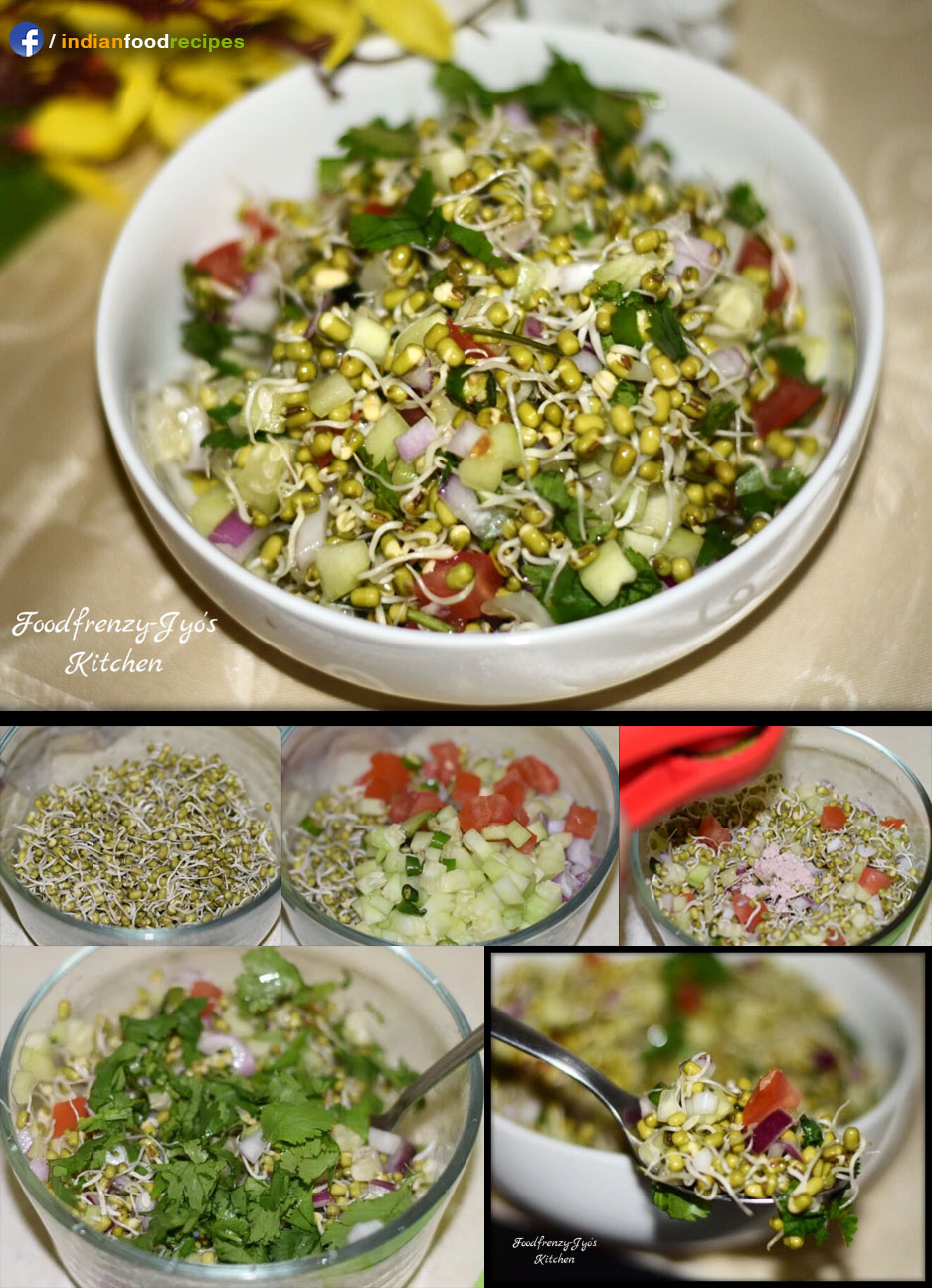 Sprouted Moong Salad recipe step by step