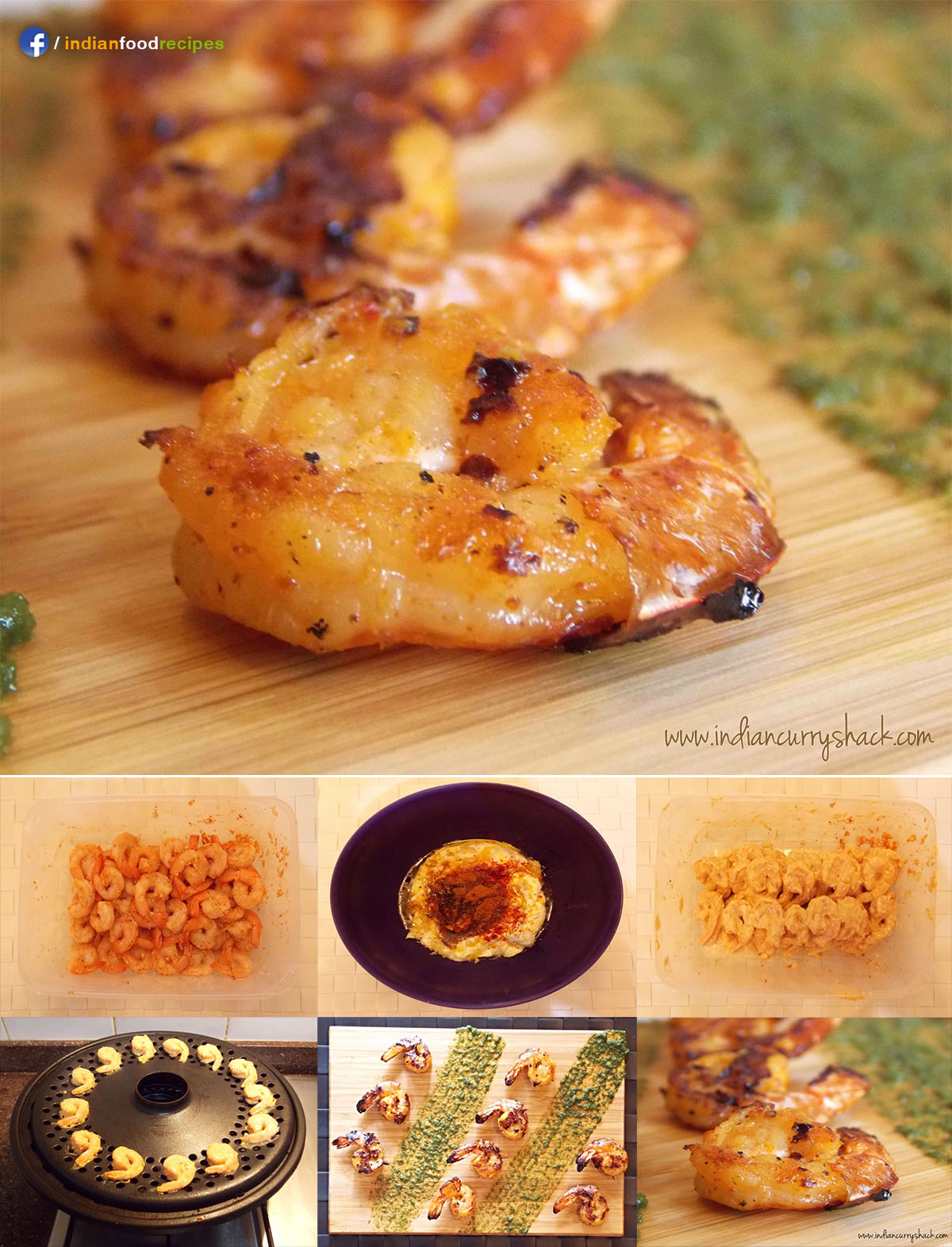 Tandoori Prawns recipe step by step