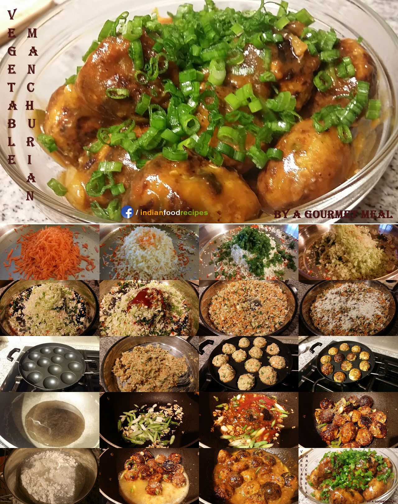 Vegetable Manchurian recipe step by step