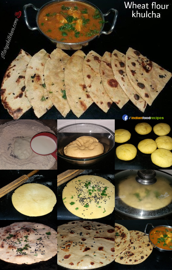 Wheat flour kulcha recipe step by step