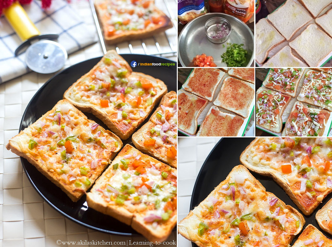 Easy Bread Pizza recipe step by step