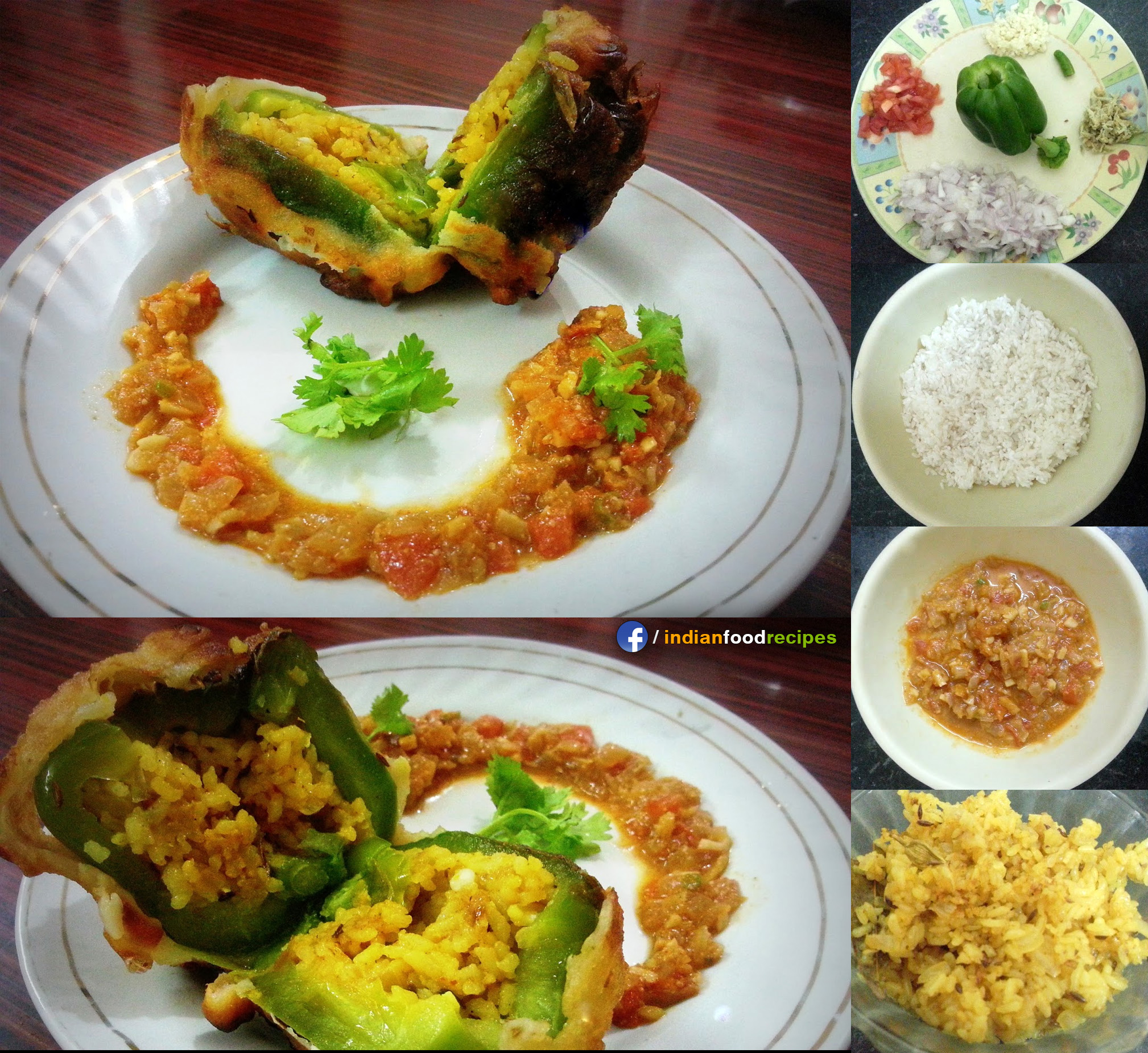 Capsicum with Stuffed Rice recipe step by step