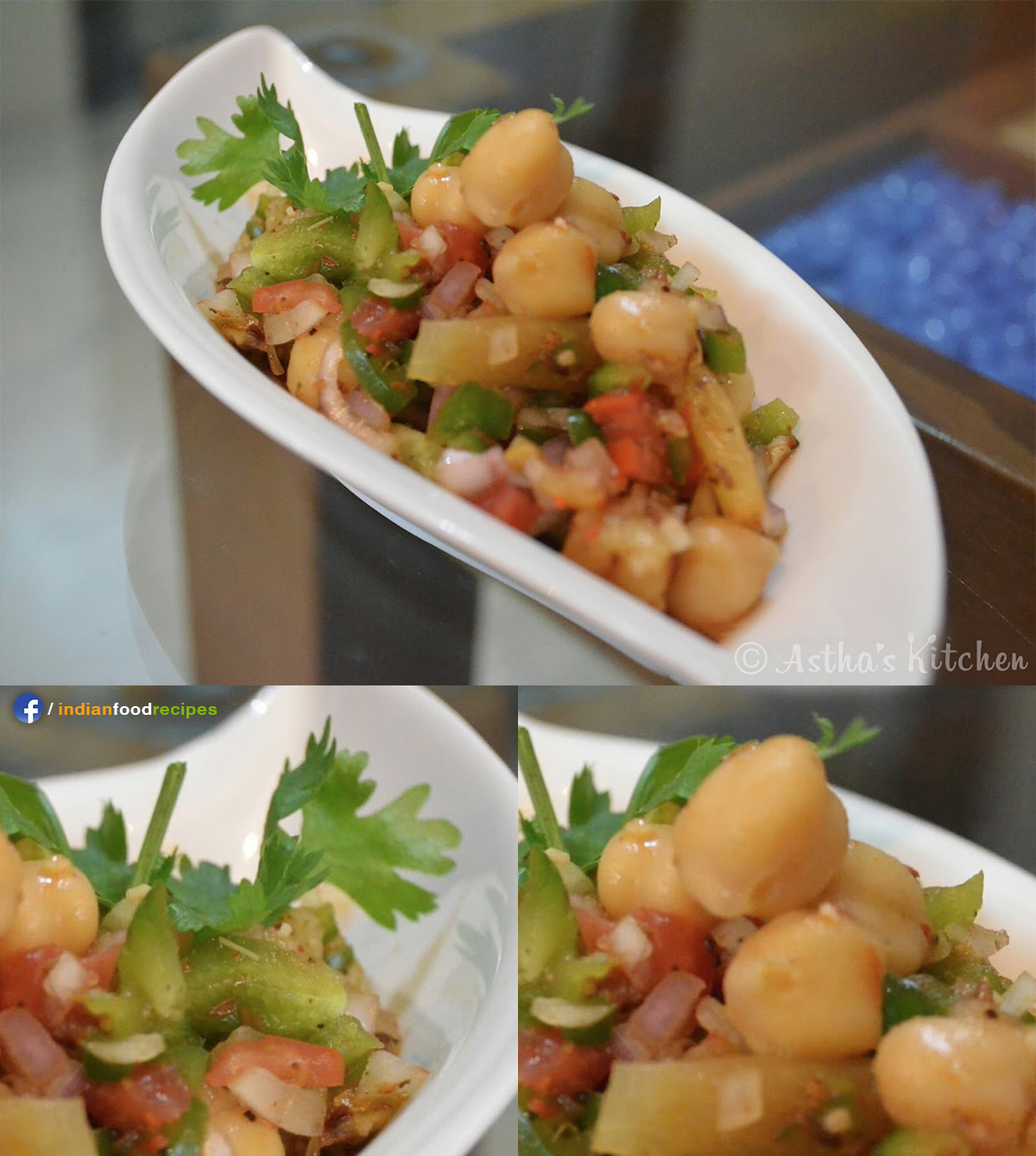 Chana Salad / Chana Chaat recipe step by step
