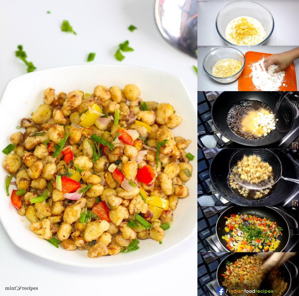 Crispy Corn Kernels recipe step by step