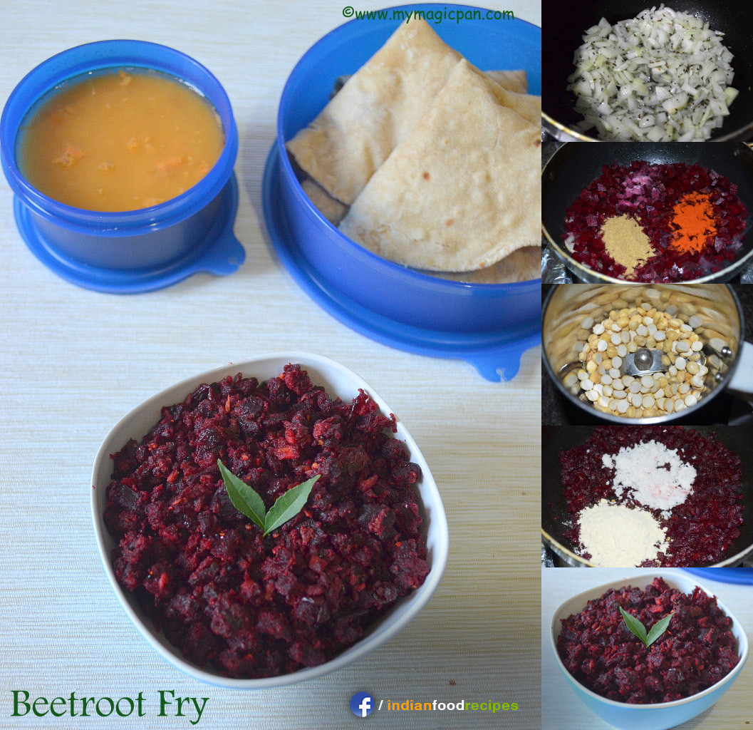 Easy Beetroot Fry – Beetroot Poriyal recipe step by step