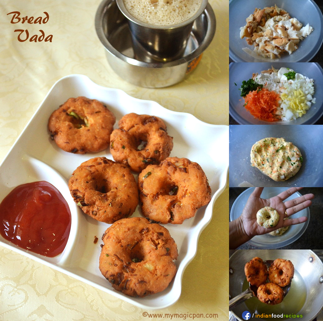 Easy Bread Vada – Instant Bread Vada recipe step by step
