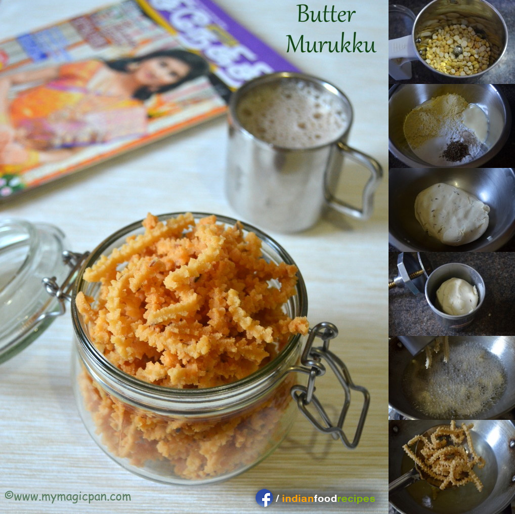 Easy Butter Murukku recipe step by step
