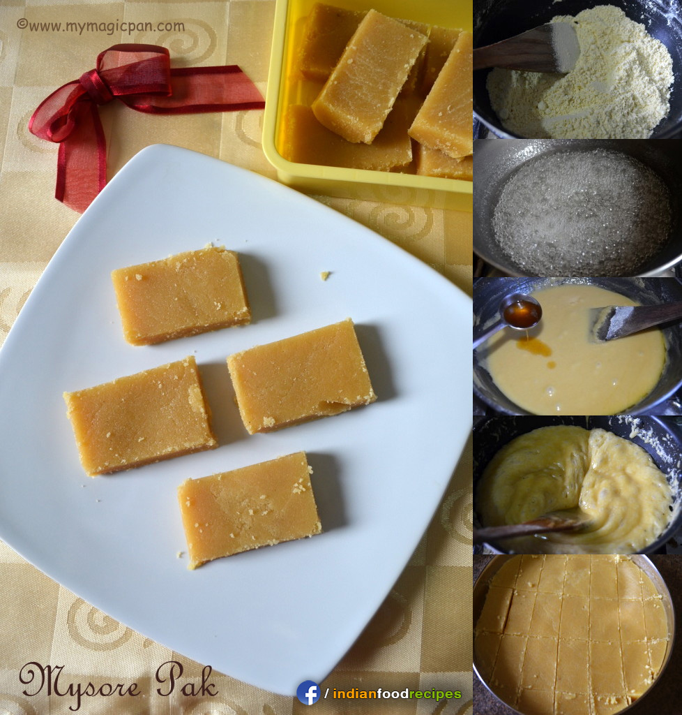 Easy Mysore Pak recipe step by step