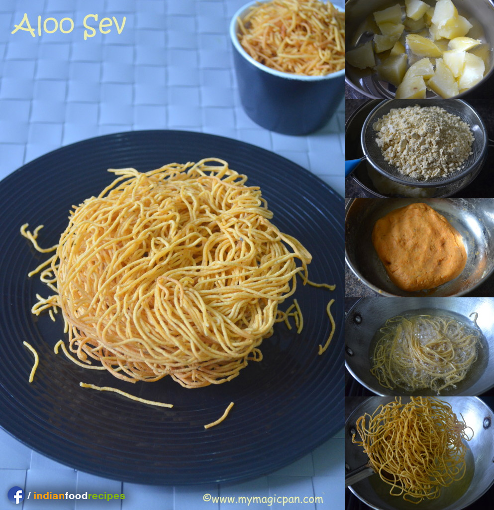 Easy Potato Sev – Aloo Sev recipe step by step