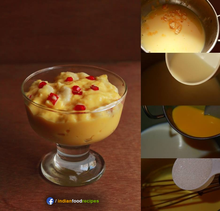 Fruit custard recipe step by step