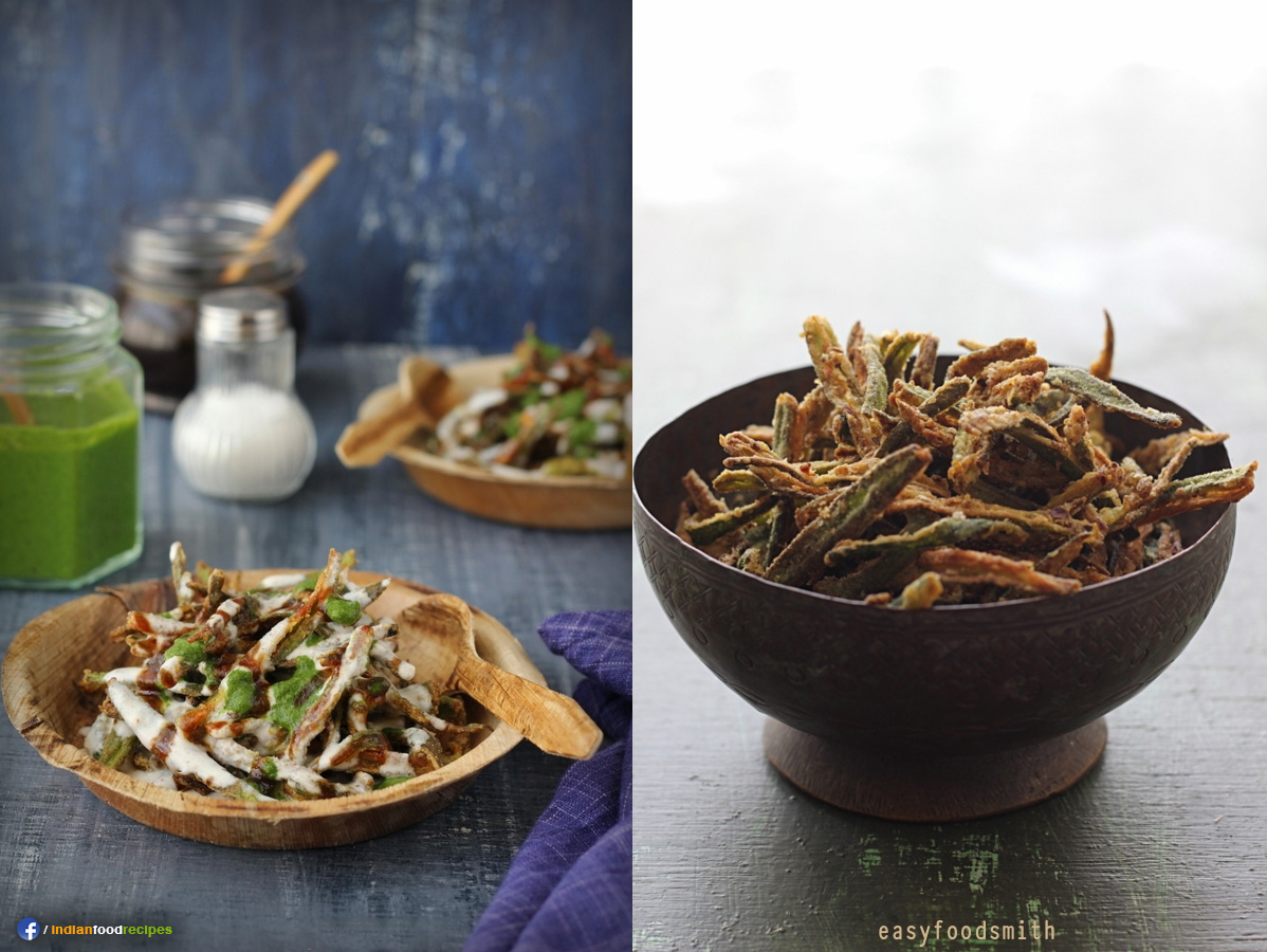 Kurkuri Bhindi Chaat recipe step by step