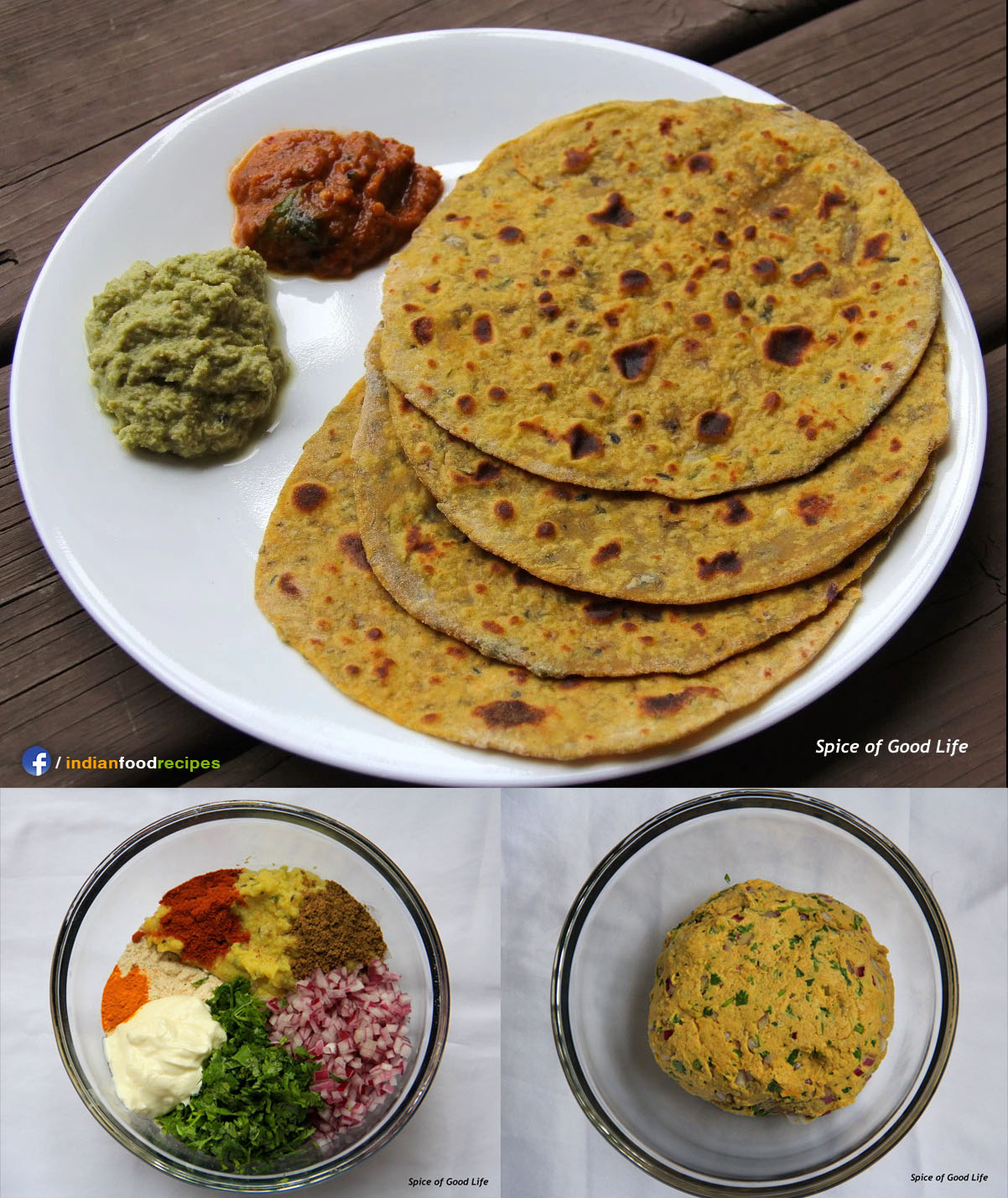 Leftover Dal Paratha recipe step by step