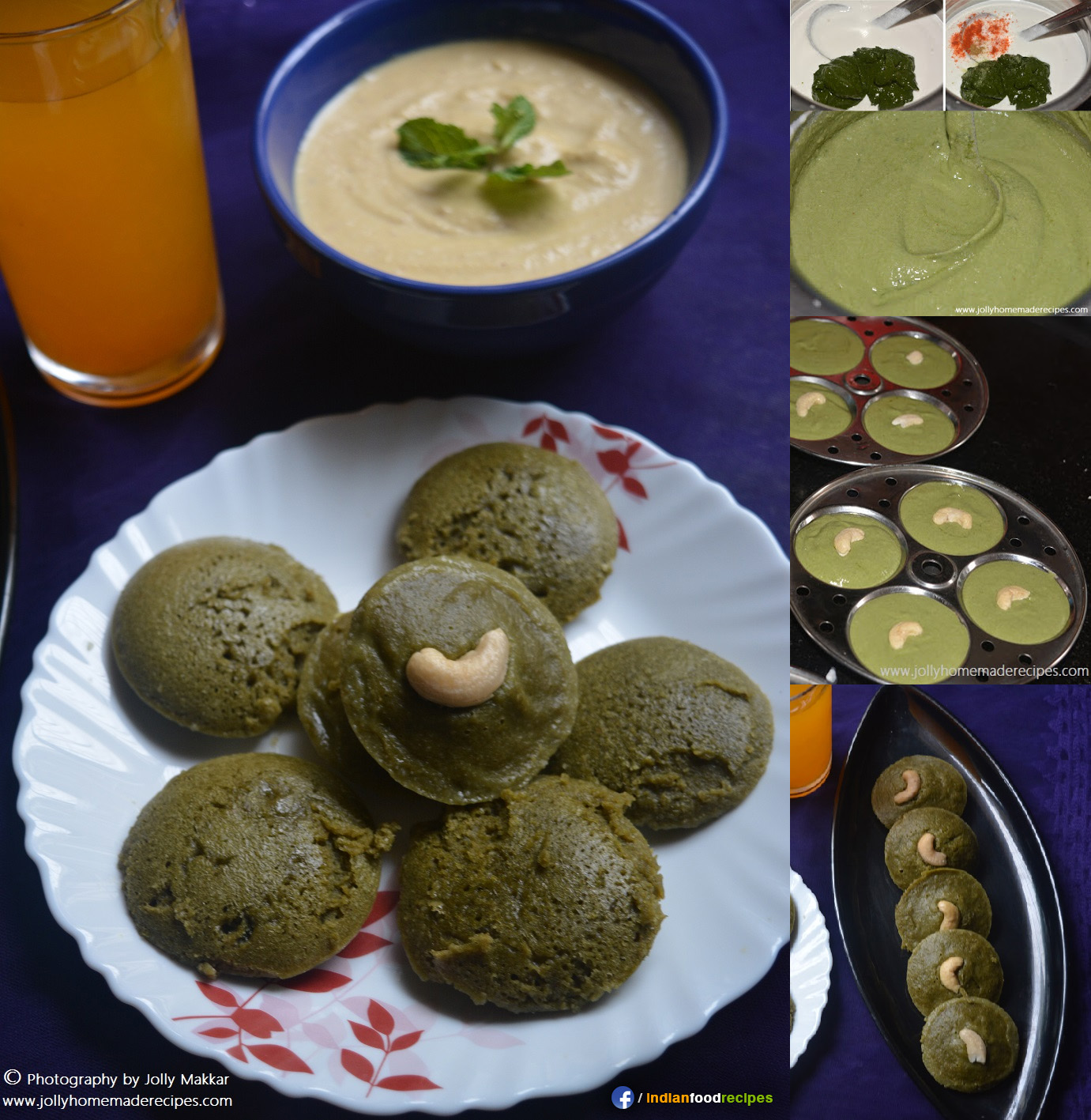 Palak Idli recipe step by step