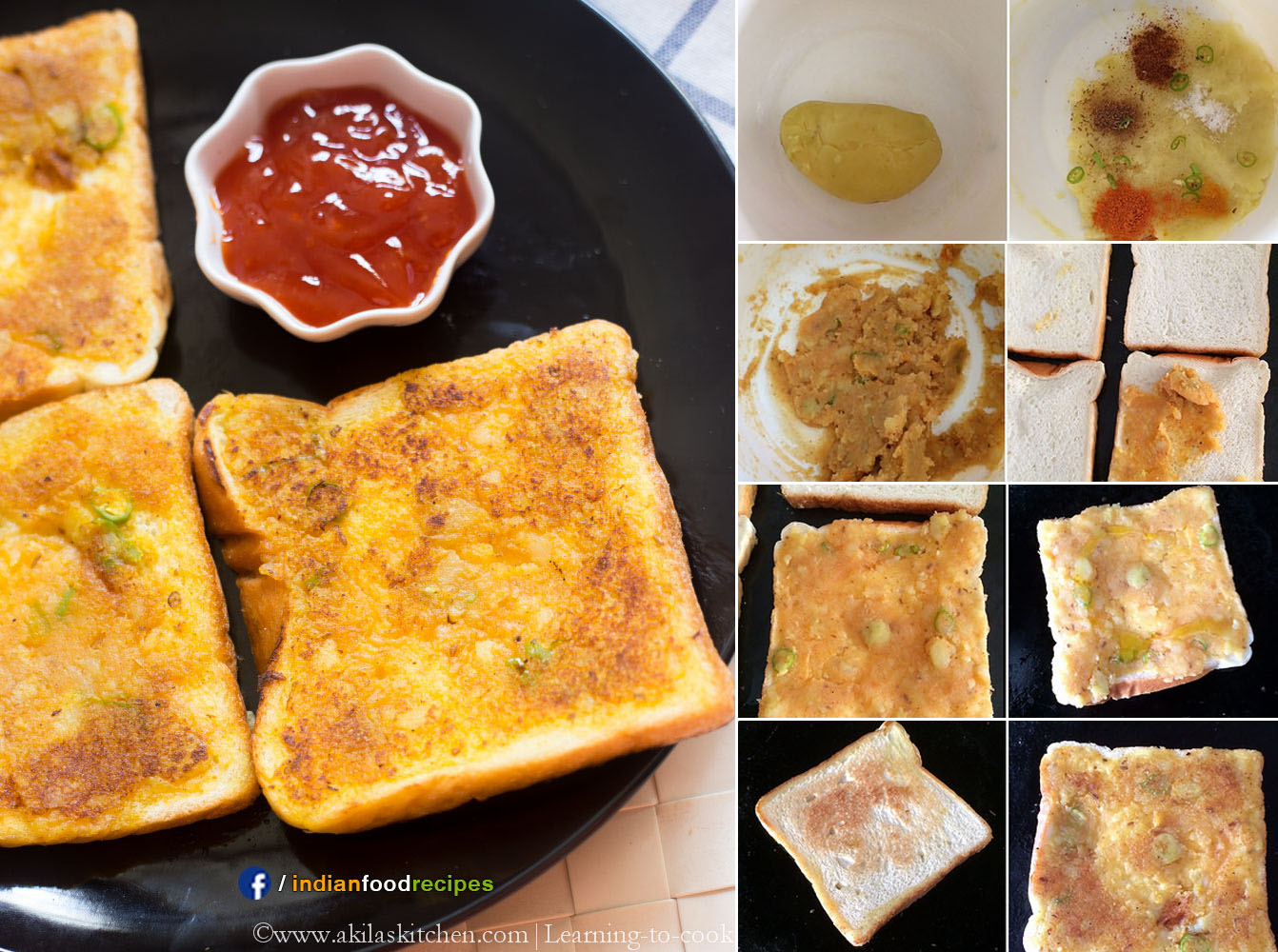 Potato Toast | Aloo Toast recipe step by step