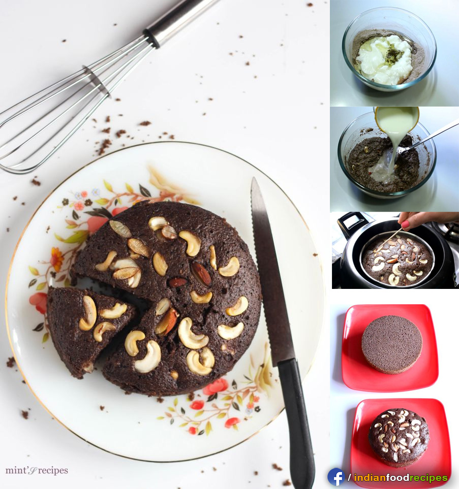 Rava Cake Recipe – Eggless Chocolate Cake (Suji) recipe step by step