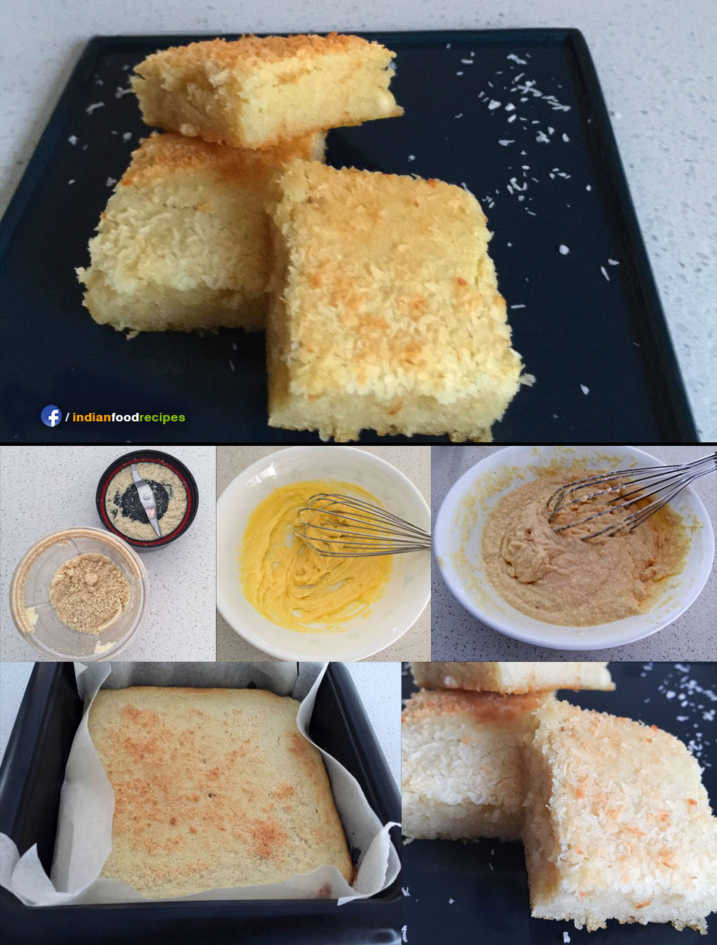 Almond Cashew Cake recipe step by step pictures