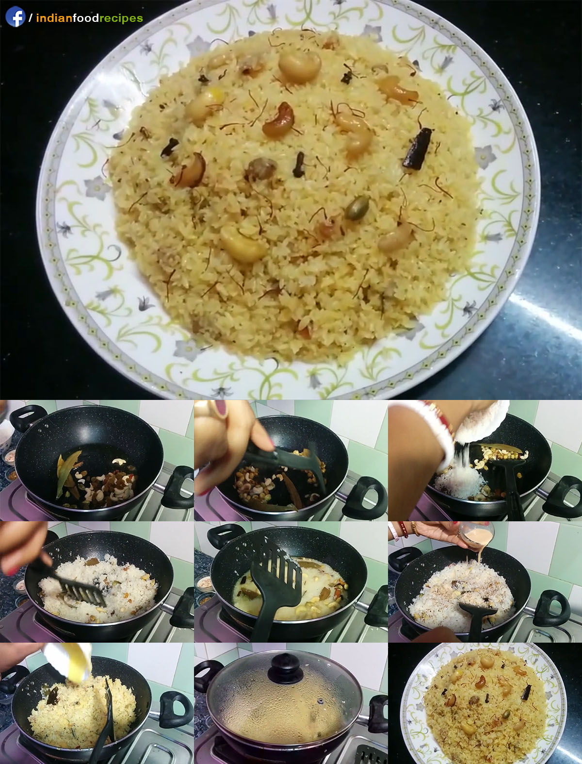 Basanti Pulao / Saffron Flavored Shahi Pulao recipe step by step