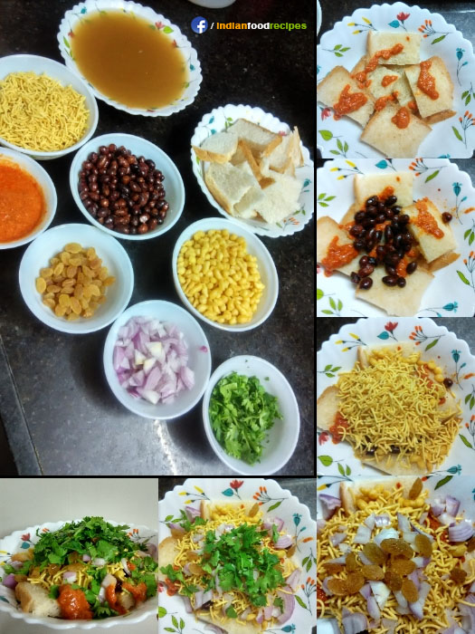 Bread Chaat recipe step by step pictures