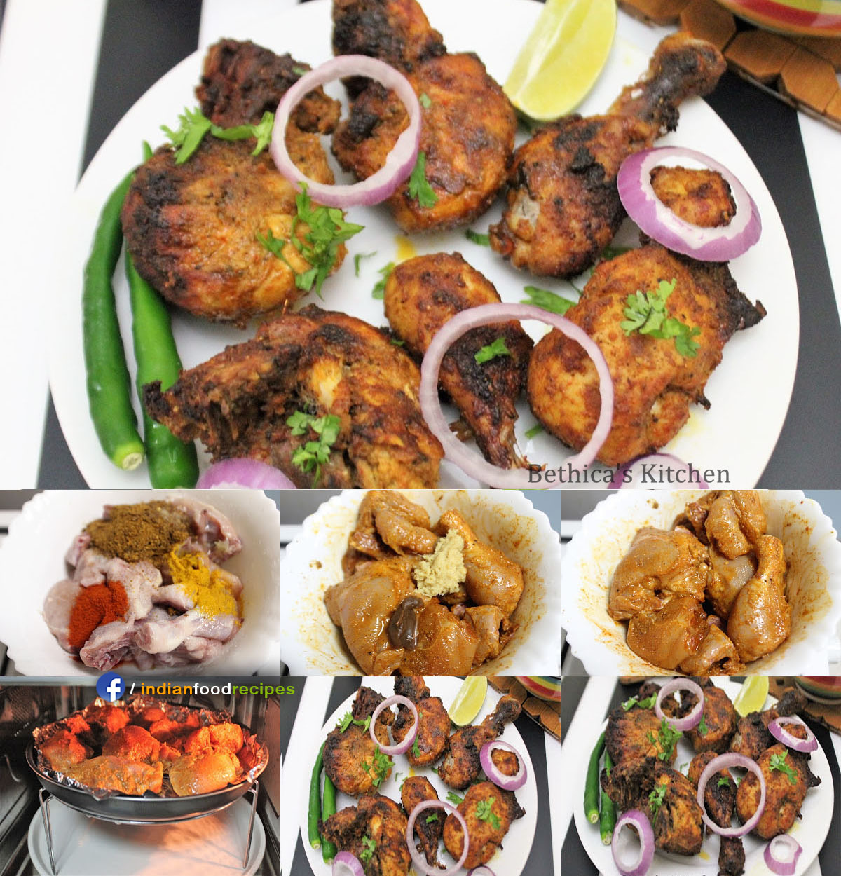 Chettinad Flavoured Grilled Chicken recipe step by step pictures