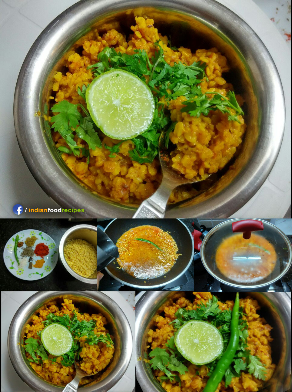 Green gram vegetable recipe step by step pictures