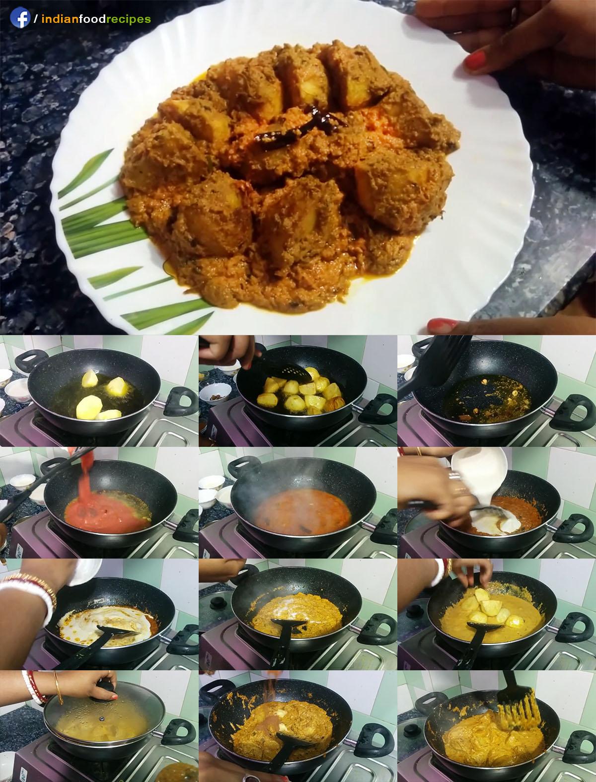Kashmiri Dum Aloo | Dum Aloo Restaurant Style | Spicy Potato Masala recipe step by step