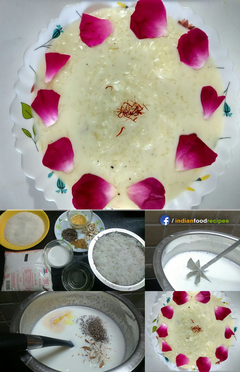 Kheer rice pudding recipe step by step pictures